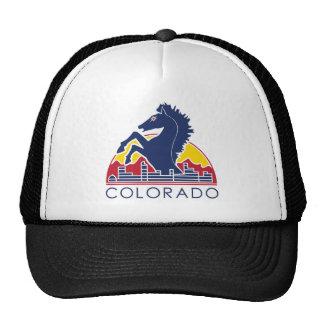 Logotipo azul de Colorado del caballo Gorras De Camionero