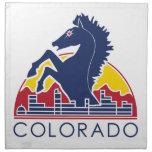 Logotipo azul de Colorado del caballo Servilleta