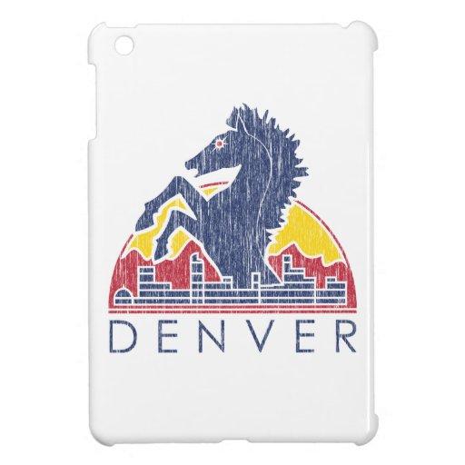 Logotipo azul de Denver del caballo del vintage