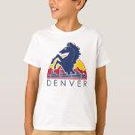 Logotipo azul de Denver del caballo Playera
