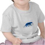 Logotipo azul de la silueta camiseta
