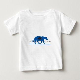 Logotipo azul de la silueta playera de bebé