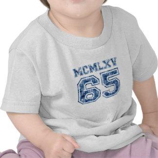 Logotipo azul de la teja de mosaico de 65 MCMLXV Camiseta