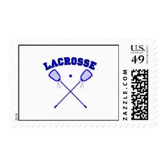 Logotipo azul de Lacross Sellos