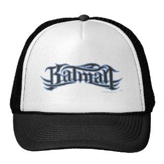 Logotipo azul de las letras negras de Batman el | Gorras De Camionero