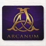 Logotipo/azul del Arcanum de Mousepad Alfombrillas De Raton
