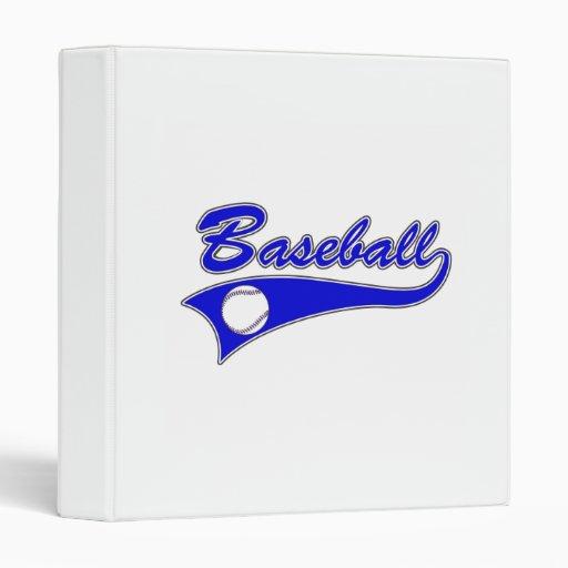 """Logotipo azul del béisbol carpeta 1"""""""