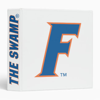 """Logotipo azul y anaranjado de la Florida F Carpeta 1 1/2"""""""