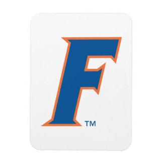 Logotipo azul y anaranjado de la Florida F Imanes Flexibles