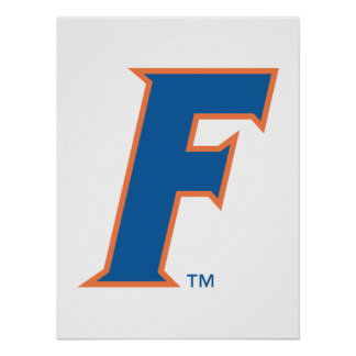 Logotipo azul y anaranjado de la Florida F Impresiones