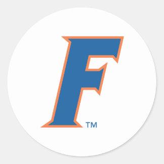 Logotipo azul y anaranjado de la Florida F Pegatinas