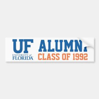 Logotipo azul y anaranjado de UFL de los alumnos Pegatina De Parachoque
