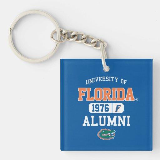 Logotipo azul y anaranjado de UFL de los alumnos Llaveros