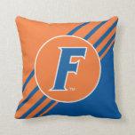 Logotipo azul y blanco de la Florida F Almohada