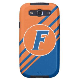 Logotipo azul y blanco de la Florida F Samsung Galaxy SIII Funda