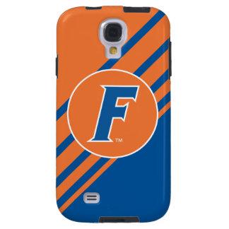 Logotipo azul y blanco de la Florida F Funda Para Galaxy S4