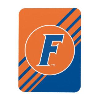 Logotipo azul y blanco de la Florida F Imán Flexible