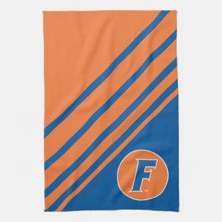 Logotipo azul y blanco de la Florida F Toallas De Mano
