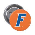 Logotipo azul y blanco de la Florida F Pin