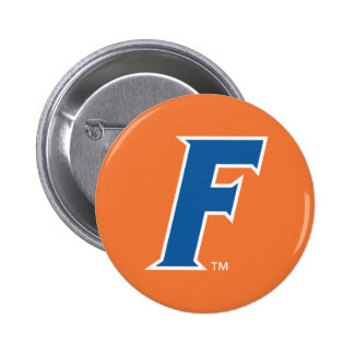 Logotipo azul y blanco de la Florida F Pin Redondo 5 Cm