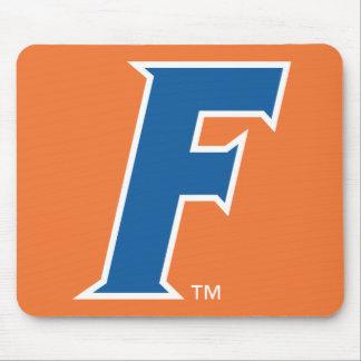 Logotipo azul y blanco de la Florida F Tapetes De Ratón