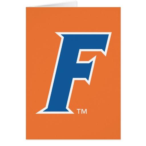 Logotipo azul y blanco de la Florida F Felicitacion