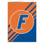 Logotipo azul y blanco de la Florida F Felicitación