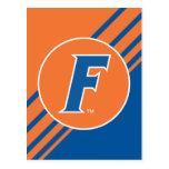Logotipo azul y blanco de la Florida F Tarjeta Postal