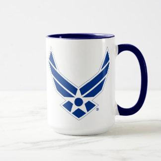 Logotipo azul y blanco de la fuerza aérea de
