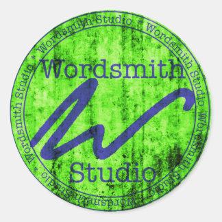 Logotipo azulverde de WSS Pegatina Redonda