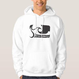 Logotipo B/W de la sudadera con capucha de