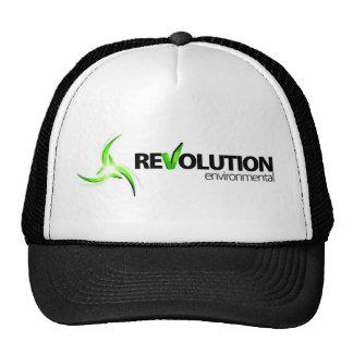 Logotipo bajo ambiental de la revolución gorro de camionero