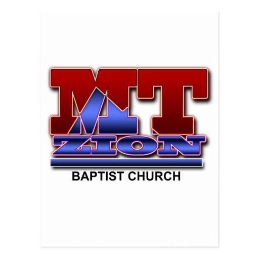 Logotipo básico del Mt Zion Tarjeta Postal
