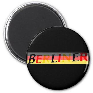 Logotipo berlinés en bandera alemana imán redondo 5 cm
