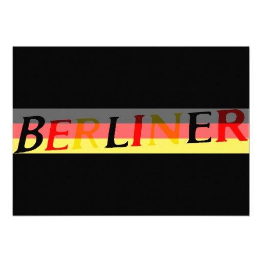 Logotipo berlinés en bandera alemana comunicado personal