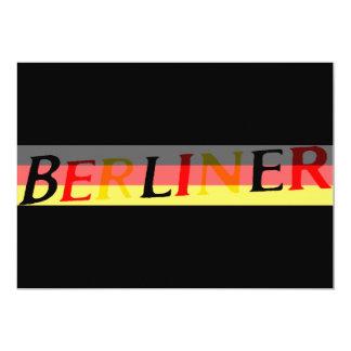 """Logotipo berlinés en bandera alemana invitación 5"""" x 7"""""""