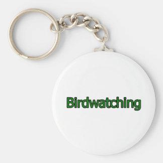 Logotipo Birdwatching del texto Llavero Redondo Tipo Pin
