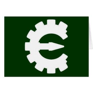 Logotipo blanco básico tarjeta de felicitación