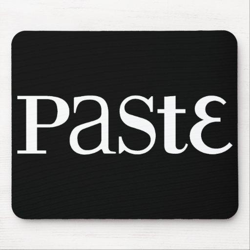 Logotipo blanco clásico Mousepad de la goma Alfombrilla De Ratón