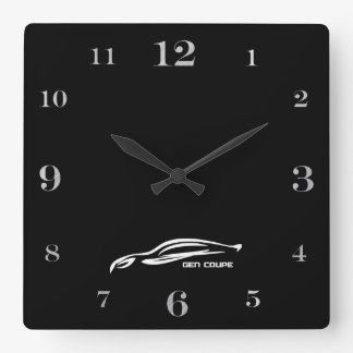 Logotipo blanco de la pincelada del cupé de la gén relojes