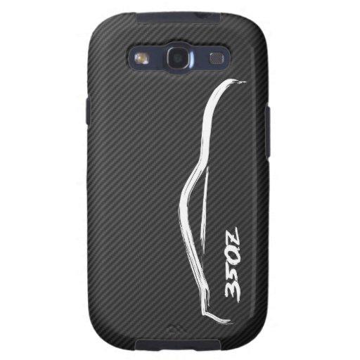 logotipo blanco de la silueta 350Z Galaxy SIII Carcasas