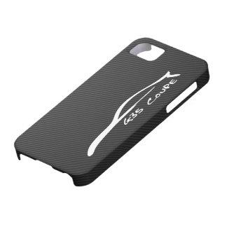 Logotipo blanco de la silueta del cupé G35 iPhone 5 Case-Mate Coberturas