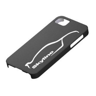 Logotipo blanco de la silueta del horizonte iPhone 5 cárcasa