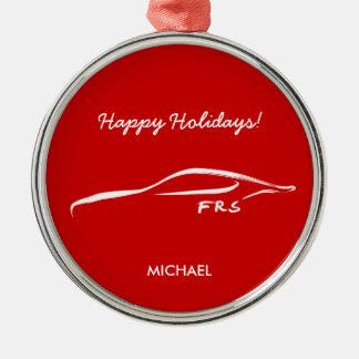 Logotipo blanco de la silueta del Scion FR-S Ornamento Para Reyes Magos