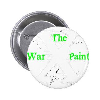 """Logotipo blanco de """"X"""" """"de la pintura de guerra"""" Pin"""