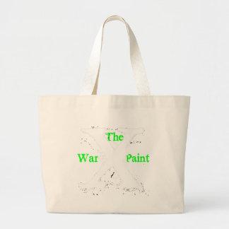 """Logotipo blanco de """"X"""" """"de la pintura de guerra"""" Bolsas De Mano"""