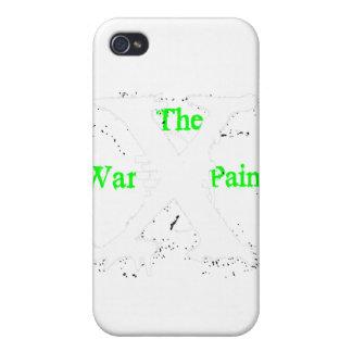 """Logotipo blanco de """"X"""" """"de la pintura de guerra"""" iPhone 4/4S Funda"""