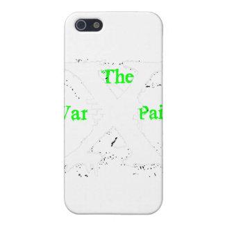 """Logotipo blanco de """"X"""" """"de la pintura de guerra"""" iPhone 5 Protector"""