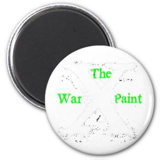 """Logotipo blanco de """"X"""" """"de la pintura de guerra"""" Imán De Frigorífico"""