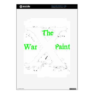 """Logotipo blanco de """"X"""" """"de la pintura de guerra"""" iPad 2 Skin"""